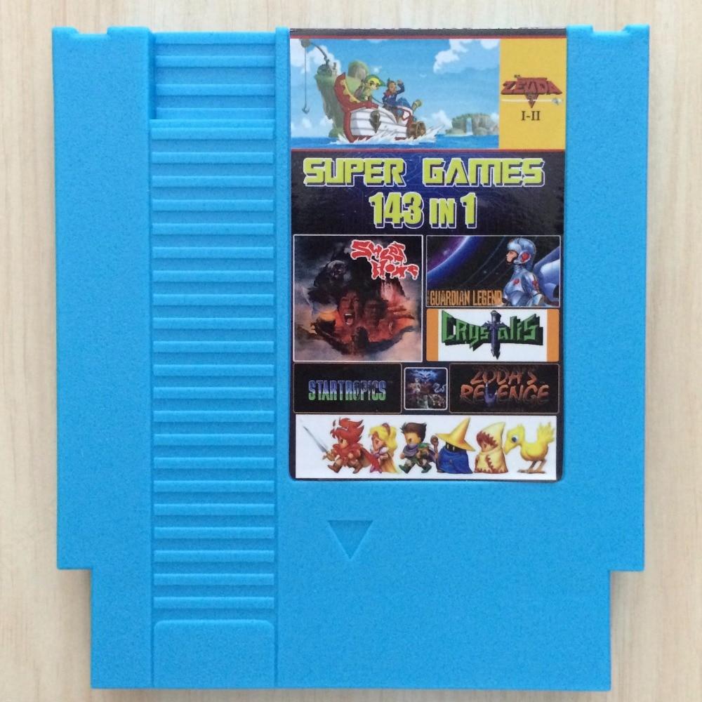 Top 72 Pins Cartuccia di Gioco a 8 bit 143 in 1 con il gioco Earthbound Final Fantasy 1 2 3 Kirby Adventure ZeldaAlink al Passato