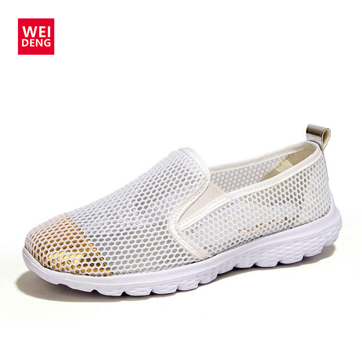 2016 Fashion Women Preppy Style Breathable Mesh Walking Super Light Casual Slip on Water Beach Girl