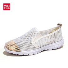 2016 Fashion Women Preppy Style Breathable Mesh Walking Super Light Casual Slip on Water Beach Girl Shoes Size 35-40