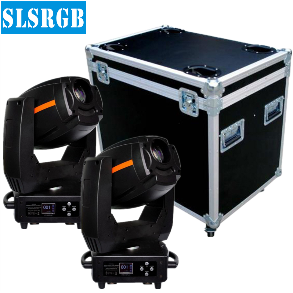 2pcs/lot with flight case Party disco dj stage light 300w dmx gobo projector spot led moving head spot light with Rainbow Effect