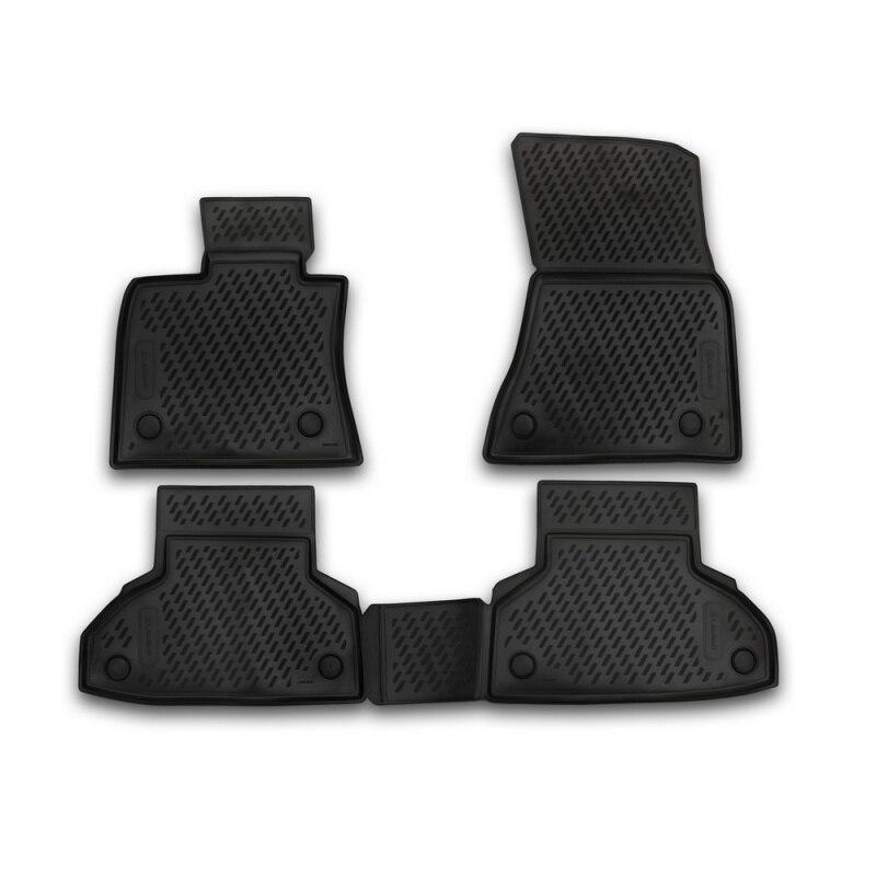 Carpet mats interior For BMW X6, 2014-> F16, 4 PCs (polyurethane) комплект ковриков в салон автомобиля klever bmw x6 f16 2014 standard