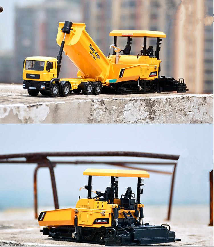 high imitation Dump Trucks and Pavers model,1:32 alloy engineering truck toy vehicles,metal castings,wholesale
