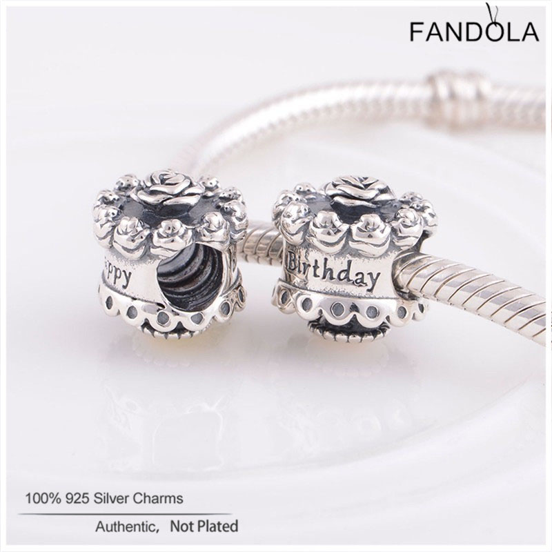 5bd6d83db ... coupon for fits pandora bracelet authentic 925 sterling silver original  charms happy birthday beads for jewelry ...