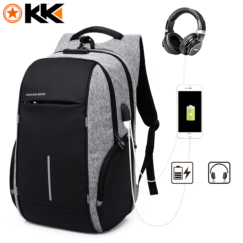 KAKA New Men Backpack Anti Theft Laptop Bag 15.6 inch Notebook Backpack Male Mochila Business Backpacks Schoolbag for Teenagers