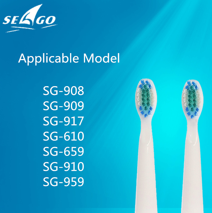2pcs/pair Seago Sonic Electric Toothbrush Head Applicable Model SG-909 908 610 917 2pcs philips sonicare replacement e series electric toothbrush head with cap