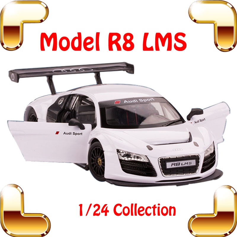 New Year Gift R8 LMS 1/24 Alloy Model Car Simulation Scale Vehicle Metal Toy Set Collection Classic Style Mini Car Metallic Item siku die cast metal model simulation toy 1 32 scale ropa beet harvester educational car for children s gift or collection big