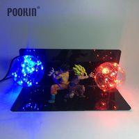 Dragon Ball Son Goku And Son Gohan Bombs Luminaria Led Color Night Light Holiday Gift Room Decorative Led Lamp In EU US Plug