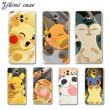Ykimi Case Soft TPU Silicone Pokemon face hits the glass Cover For Huawei MATE 8 9 10 Lite Pro case Nova lite 2 2s 3 3i 3e