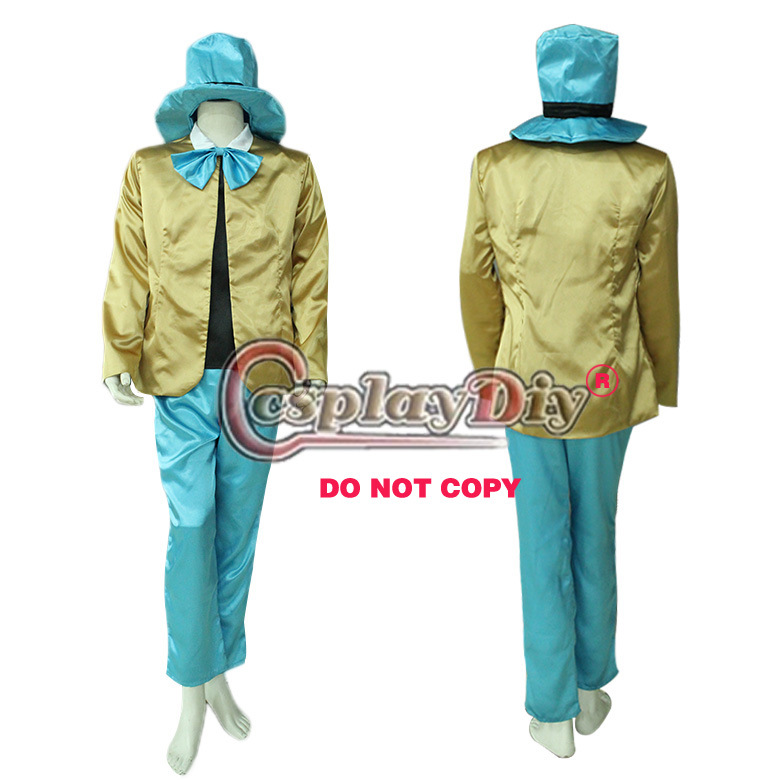 Cosplaydiy Alice in Wonderland Costume Mad Hatter Adult font b Men b font Uniform Halloween Cosplay