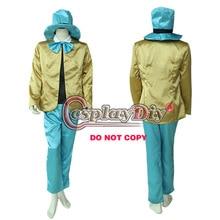 Cosplaydiy Alice in Wonderland Costume Mad Hatter Adult Men Uniform Halloween Cosplay Costume Custom Made D0528