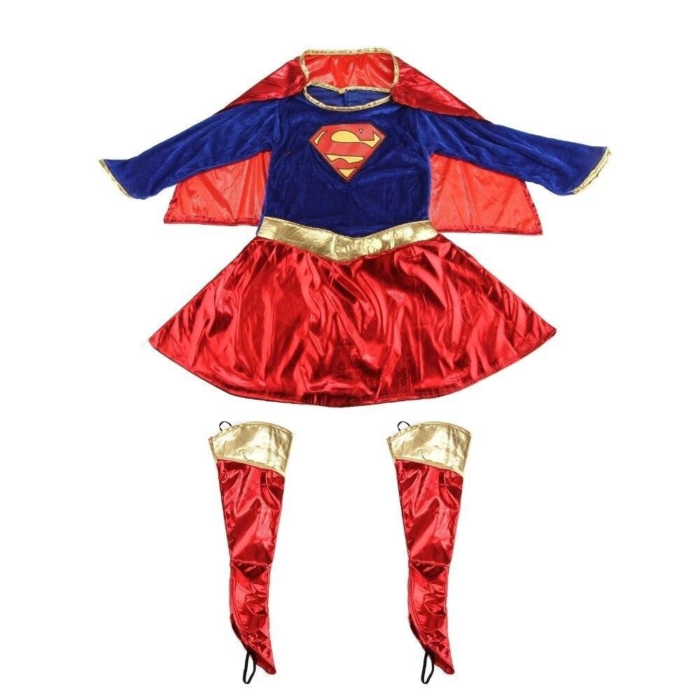 Image 5 - Niños niño niñas disfraz superhéroe Supergirl cómic traje de fiestaDisfraces para niñas   -