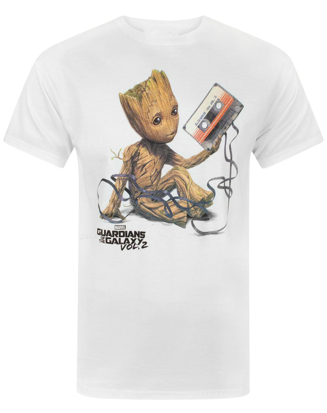 Free Shipping Tee Guardians of the Galaxy Vol 2 Groot Tape Mens T-Shirt Summer Short Sleeve