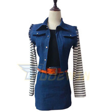 Anime Dragon Ball Z Android 18 Cosplay Costume Custom Made Any Size