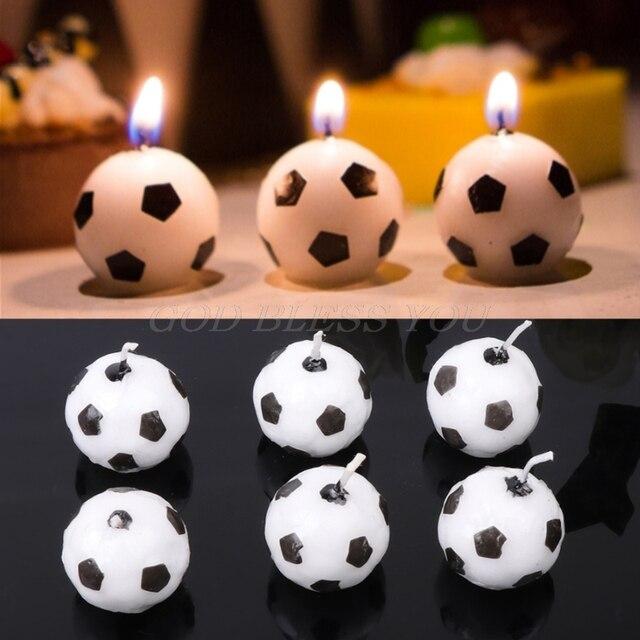 6 ピース/セットサッカーボールサッカー誕生日パーティー子供ケーキ装飾用品ドロップ無料