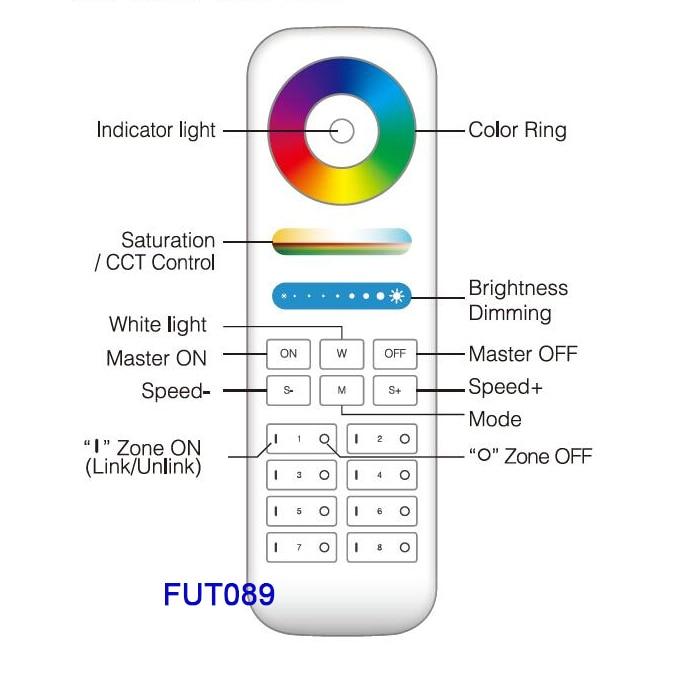 FUTT07 100W LED Floodlight IP65 waterproof RGB+CCT adjustment 2.4G wireless remote wifi cellpnone APP control LED Spotlight