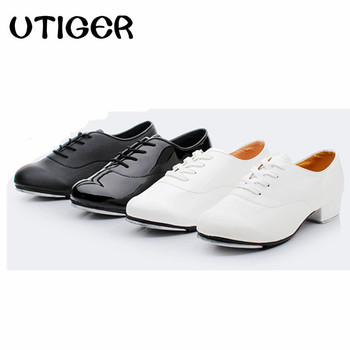 Adult Men Children Boy Tap Dance Shoes Leather or PU Oxford Lace Up Male Dancing Shoes Girls Women Tap Dancing shoes WD194 Обувь