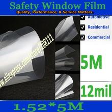 Оконная пленка exproration доказательство стикер лобового стекла пуленепробиваемые фильм 12mil '* 197'/5 * 16.4ft
