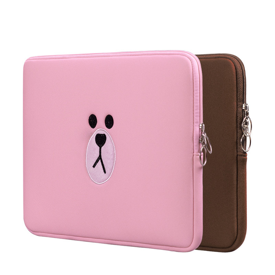Cute Laptop Sleeve Bags Tablets Pouch Case for Funda Apple iPad 7.9 9.7 For Macbook Air 11 12 13 15 for Xiaomi Mi Pad Air 13.3