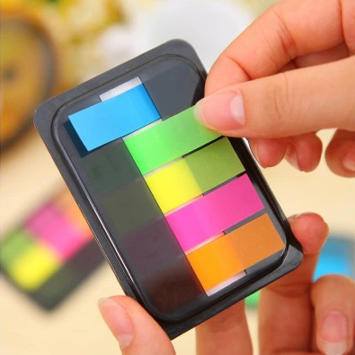Creative Tearable Colored Memo Pad. N Time Post it Notes, Office School Self Adhesive Marker Point It Bookmark