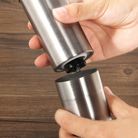 Hotsale Silver Stainless Steel Hand Manual Handmade Coffee Bean Mill Grinder Kitchen Grinding Tool Home
