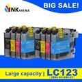 LC121 LC123 чернильный картридж для Brother DCP J4110DW J132W J152W J552DW J752DW J172W полный чернильный картридж принтер с чипом LC 121