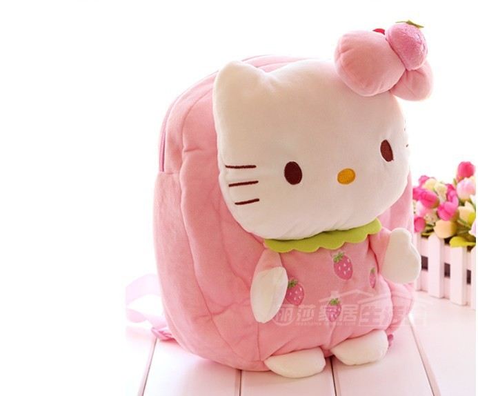 Cute Hello kitty plush backpack boys girls Kindergarten children's school bags shoulder bag baby soft toy - Little Genius store