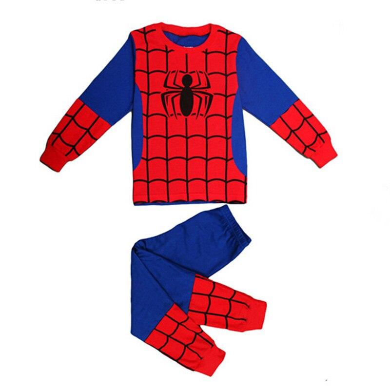 Boys Geyim dəsti uşaq pijama Spiderman Ironman paltar dəsti - Uşaq geyimləri - Fotoqrafiya 2