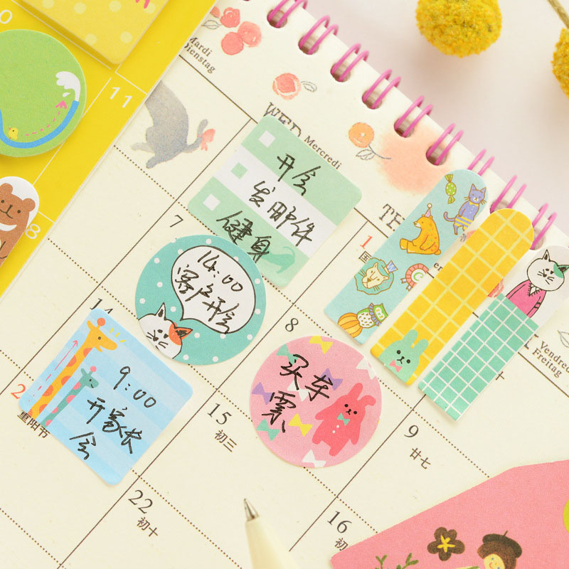 Office & School Supplies Notebooks & Writing Pads Cute Kawaii Panda Memo Pad Paper Label Stickers Cartoon Cat Writing Pads For Kids Gift Korean Stationery Office School Supply