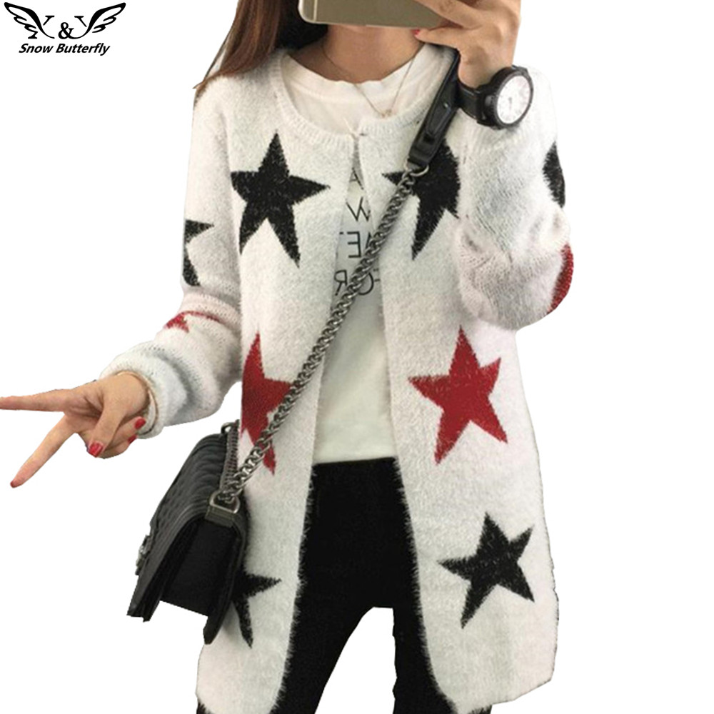 2016 high quality fall and winter Female cardigan sweater Knitted ...