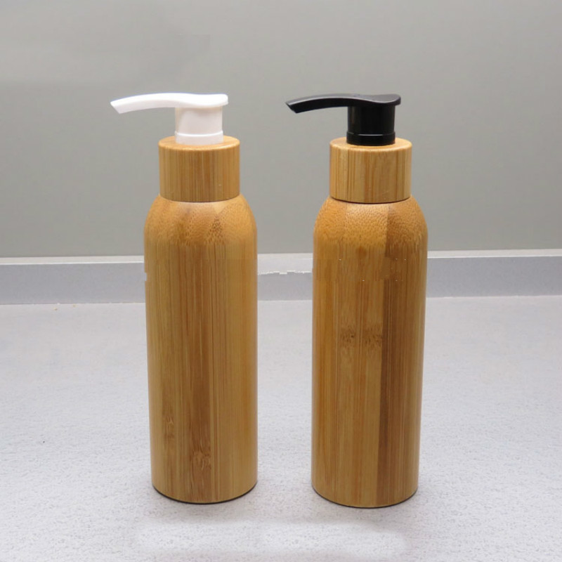 120ML Bamboo Lotion Pump Bottle 4 2OZ Empty Cosmetic Shampoo Refillable Bottles Latex Emulsion Packaging Container