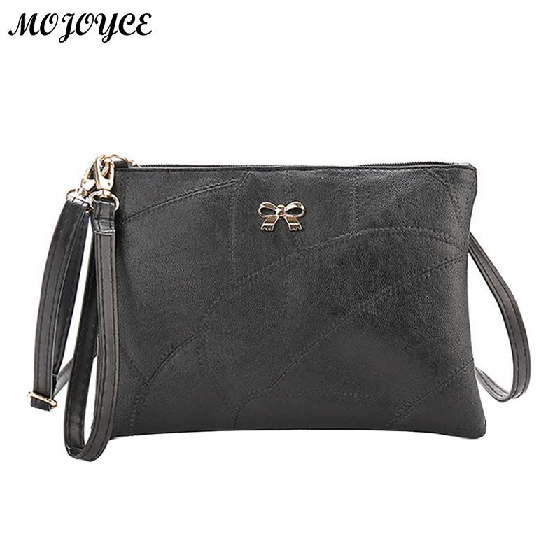 Women Messenger Bag PU Leather Bowknot Handbag Composite Purse Clutch Pure Cross Square Crossbody Bag Ladies Shoulder Bags new punk fashion metal tassel pu leather folding envelope bag clutch bag ladies shoulder bag purse crossbody messenger bag