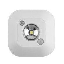 Mini Sensor de movimiento infrarrojo inalámbrico luz de la noche para techo con batería lámpara de porche luz de techo LED iluminación lámpara de porche