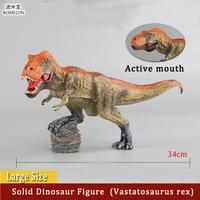 Large Size Solid Dinosaur Figures Vastatosaurus rex Model Decorations Jurassic Park Toys for Children Kids Boys Birthday Gift