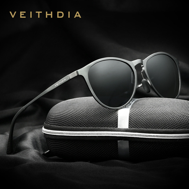 6baa0b6a118 V6625 VEITHDIA Unisex Retro Aluminum Magnesium Brand Sunglasses Polarized  Lens Vintage Eyewear Accessories Sun Glasses Men