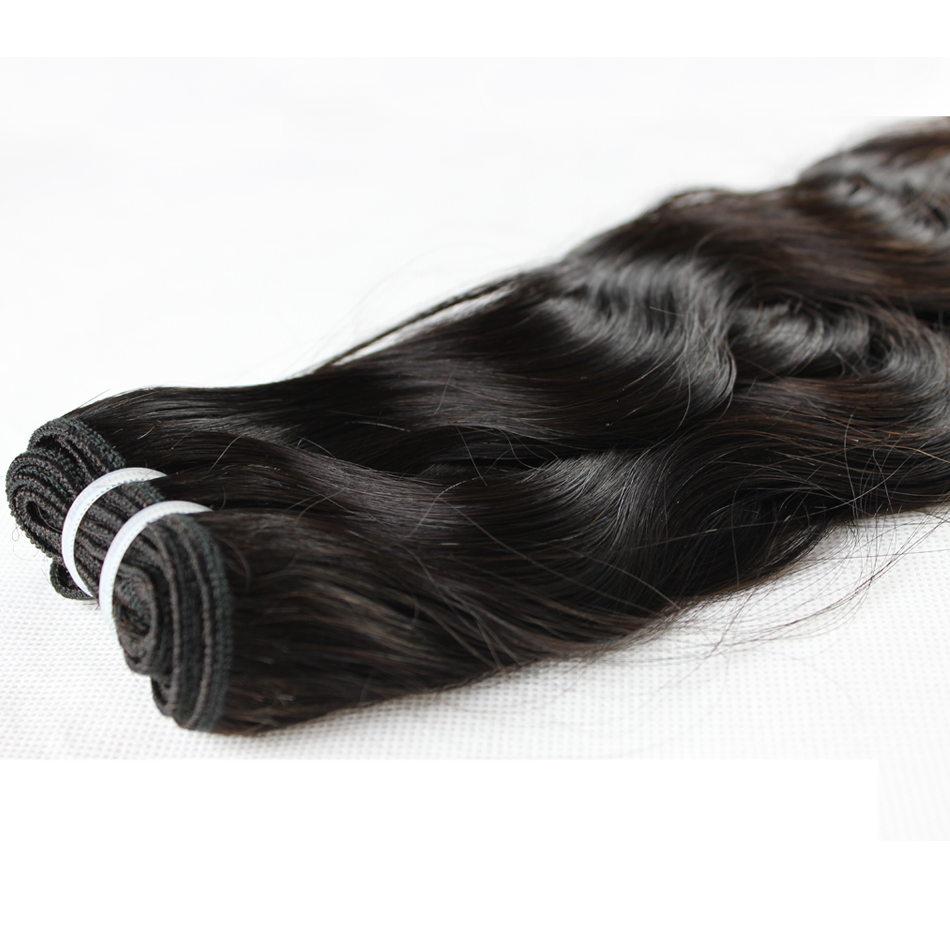 Image 5 - Ali Sky Hair 3 Bundles Peruvian Natural Wave Mixed Length 8 30inch black color No Shedding No Tangle Remy freeshippping-in 3/4 Bundles from Hair Extensions & Wigs