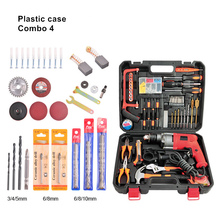 220v multifunction electric impact hammer drill wood metal stone cutting off household wall hole drilling tools plastic case