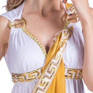 Image 4 - Women Sexy Greek Goddess Roman Lady Egyptian Costume Cosplay White Jumpsuit Robe Fancy Dress for Female Adult Halloween Costumes