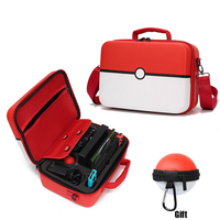 Pokemon nintendoswitch interruptor caso acessórios pokemons armazenamento saco de mão nintendos moda jogos poke ball mais saco Bolsas     -