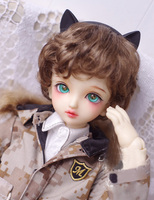 BJD doll wigs dark brown Imitation mohair short hair wigs for 1/3 1/4 BJD DD SD doll hair wigs easy to care doll accessories