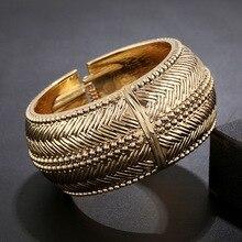 WLP brand jewelry 2017 New women Alloy Metal bangles bracelet Europe bangle Temperament vintage silver gold coated bracelet
