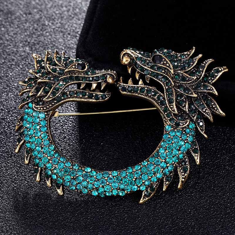 Déclaration Cool Dragon Broches mode hommes Vintage Broches Boutique Fine Animal broche Punk bijoux Broches femme Joias Broches