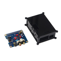 Raspberry Pi 3 Audio Sound Card Module I2S Interface HIFI DAC Expansion Board+Black Acrylic Case for Raspberry pi 2 /3 Model B