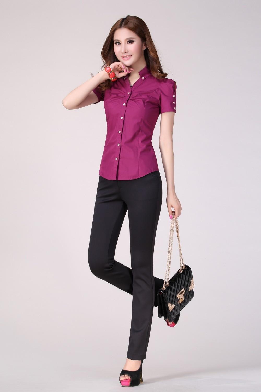 Women Elegant Pantsuit Office Uniform Work Wear