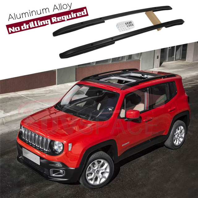 Jeep Renegade Roof >> Aluminum Black High Quality Roof Rack Bar Rail Baggage Luggage For