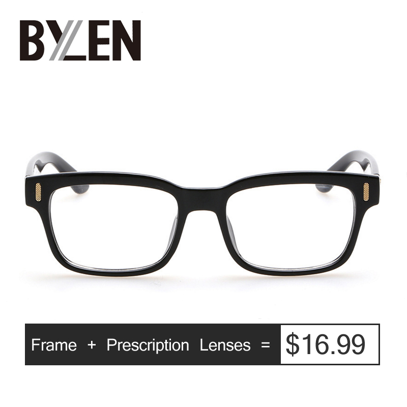 Prescription Glasses Spectacles Lenses Myopia Reading Optical Small Brand Eyewear Square