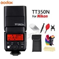 2017 New GODOX TT350N 2.4G HSS 1/8000s TTL GN36 Flash Speedlite Speed light for Nikon Camera free shipping + GIFT