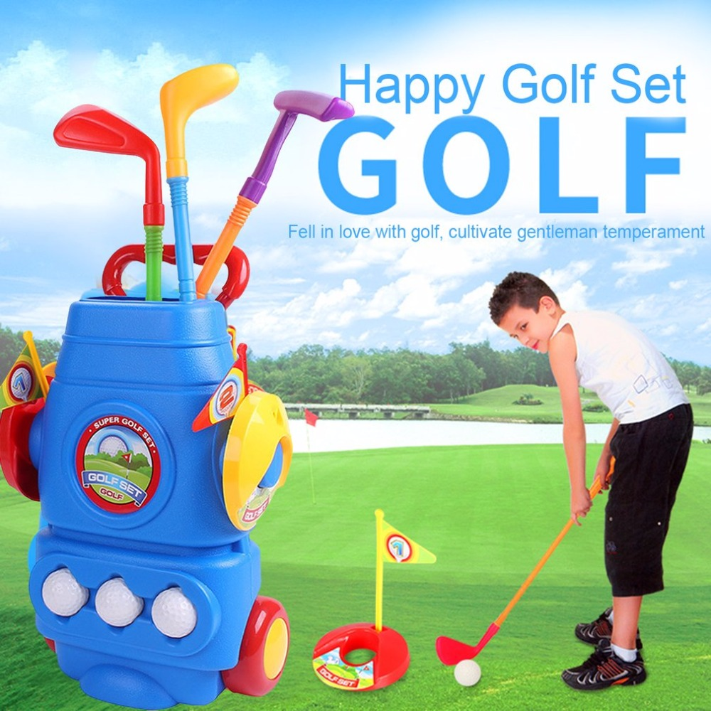 Golf Toy Set With Three Balls Sports Toys Colourful Developmental Perfect Outdoor Play Golfer for Children