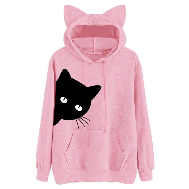 brixini.com - The Preppy Cat Ear Hoodie