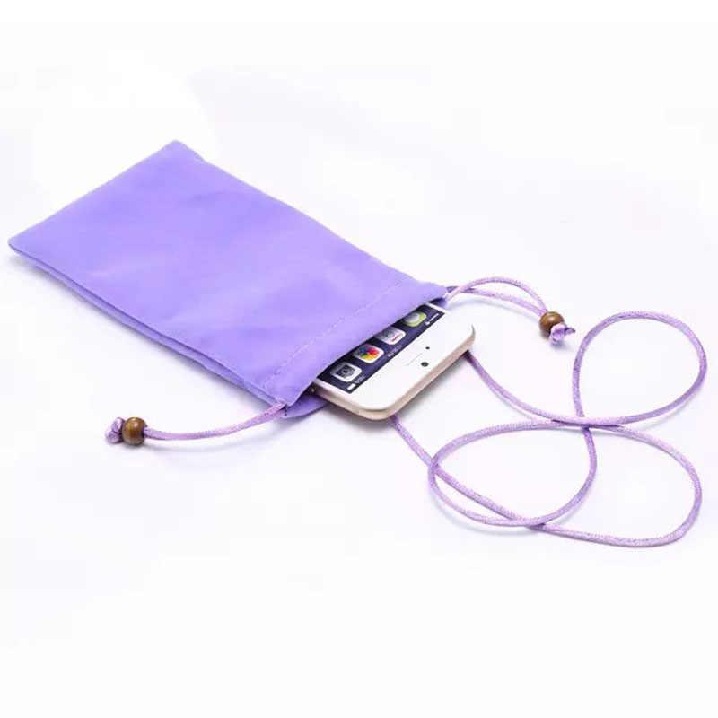 Premium Katun Tali Universal Ponsel Bag Case Cover untuk Samsung Galaxy Note 7 5 4/S7 6 Edge s4 S3 untuk iPhone 7 6 6 S PLUS