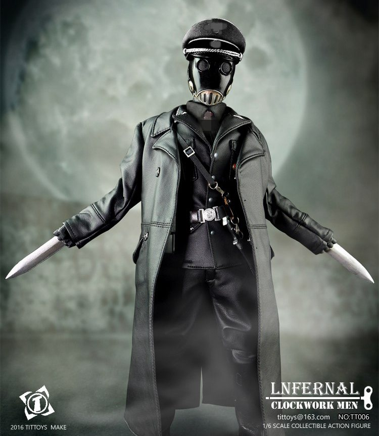 1/6 scale figure Hellboy Mask man officer Karl Ruprecht Kroenen Infernal 12 Action figure doll Collectible Model plastic toy hellboy mask breathable full face mask kroenen helmet halloween cosplay horror helmet karl ruprecht kroenen halloween props w153
